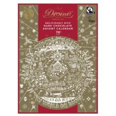 Divine Fairtrade Chokladkalender - Mörk