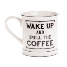 Mugg med text - Wake Up Coffee